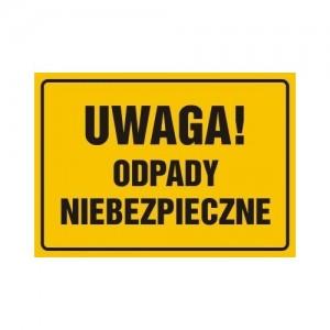 Znaki iinstrukcje Top Design znak Uwaga Odpady niebezpieczne OA094