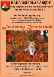 Jesienny Zwierzak - plakat