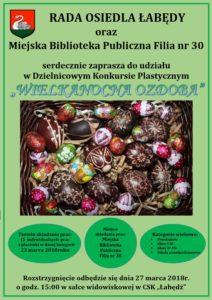 Wielkanocna ozdoba - plakat