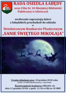 sanie św.Mikołaja - plakat