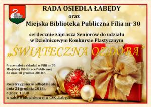 świąteczna ozdoba dla Seniorów - plakat